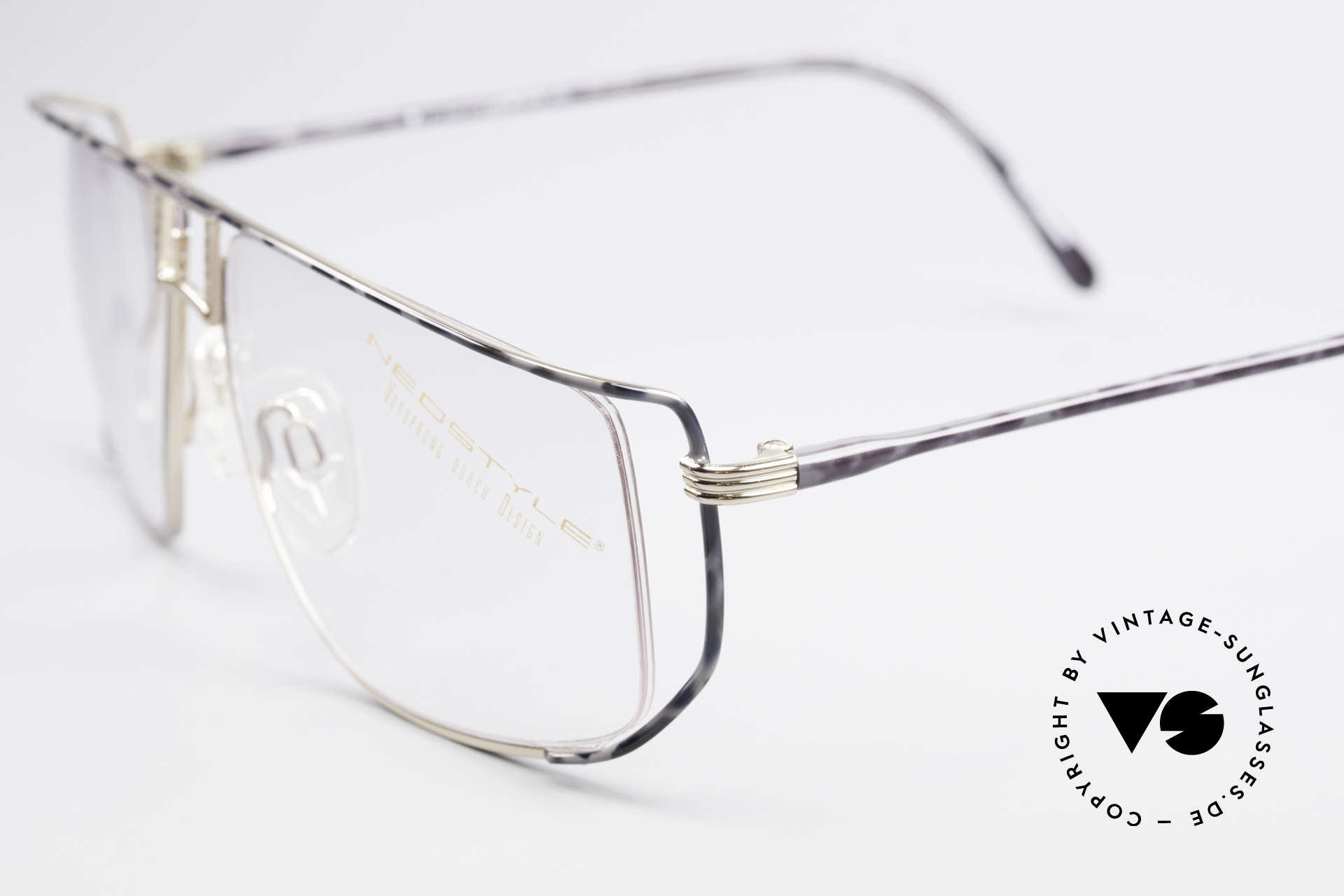 Neostyle Jet 30 Small True Vintage No Retro Frame, brilliant frame coloring 'gold-granite', small size 58/13, Made for Men and Women
