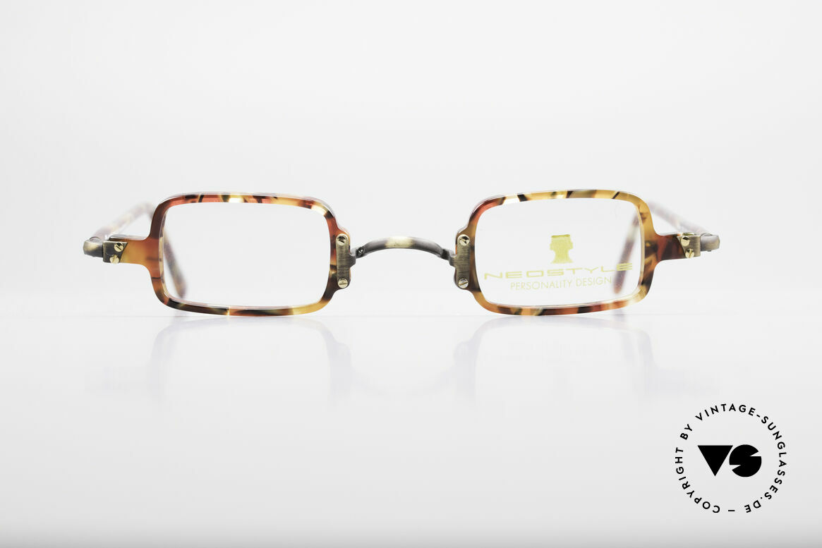 Neostyle Bistro 172 Square Vintage Unisex Frame, great combination of colors, pattern & materials, Made for Men and Women