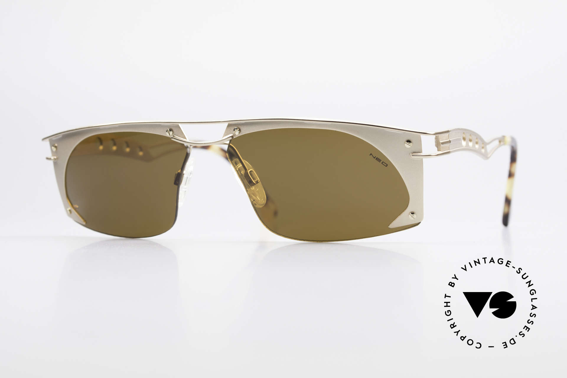 Neostyle Holiday 968 Vintage Steampunk Sunglasses, extraordinary NEOSTYLE sunglasses from the 90's, Made for Men