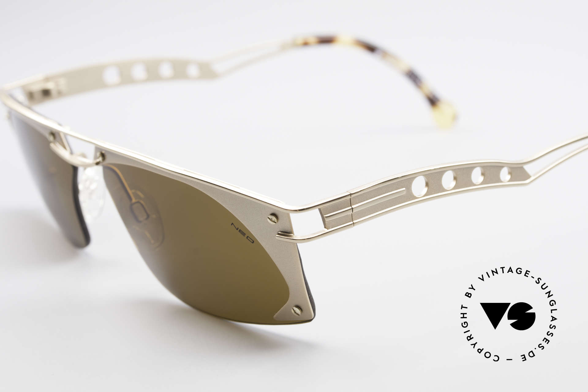 Neostyle Holiday 968 Vintage Steampunk Sunglasses, with dark brown sun lenses (100% UV protection), Made for Men