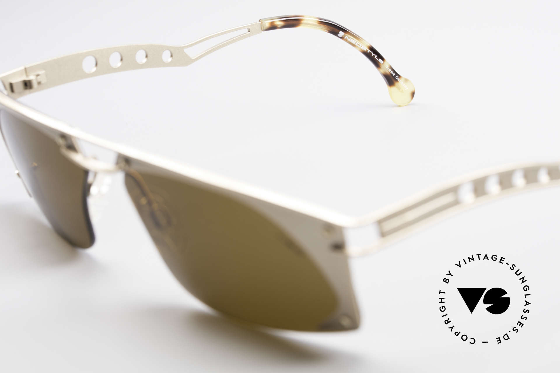 Neostyle Holiday 968 Vintage Steampunk Sunglasses, unworn (like all our old 90's designer sunglasses), Made for Men
