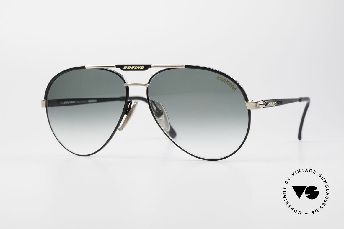 Boeing 5733 Rare 80's Pilots Glasses Men, 'The Boeing Collection by Carrera' - medium size 58/13, Made for Men and Women