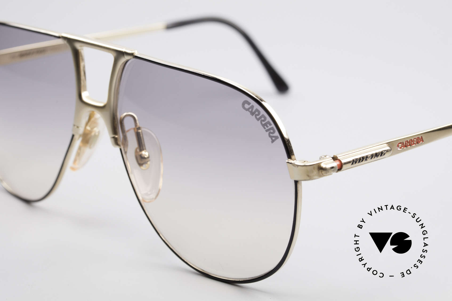 Boeing 5731 Large 80's Aviator Sunglasses, high-end quality & simply precious (gold plated frame), Made for Men