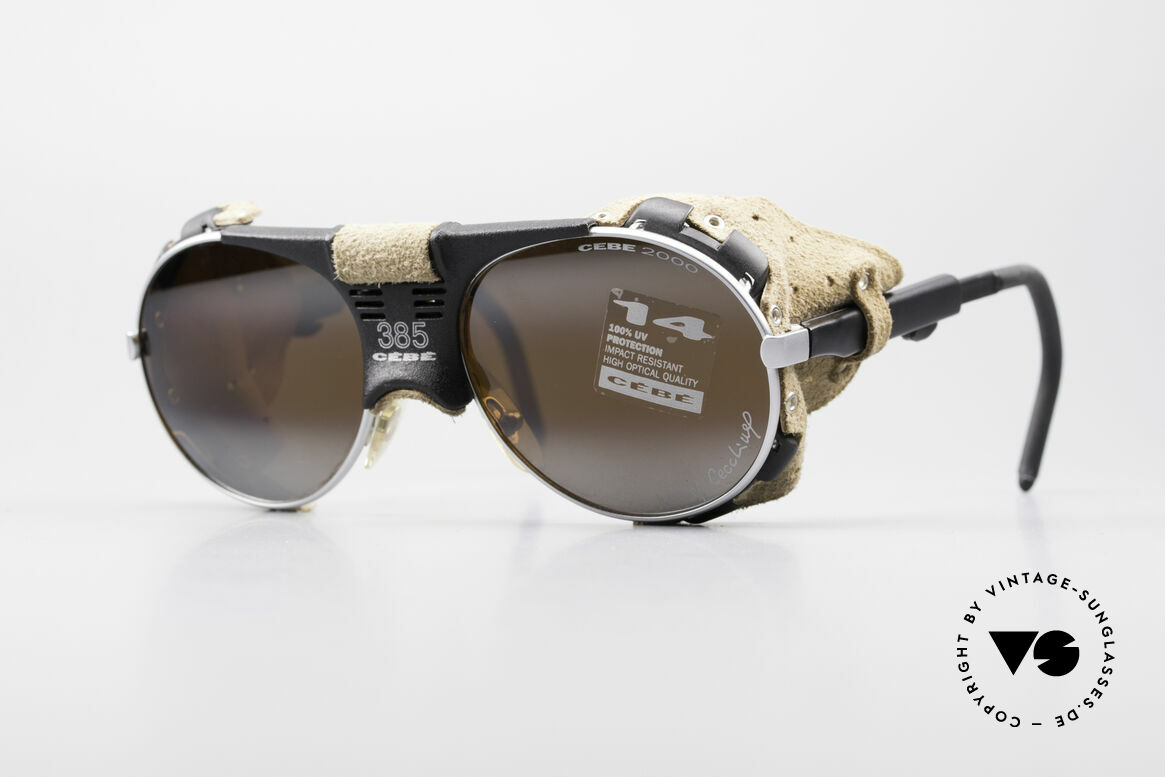 Cebe 385 Walter Cecchinel Ski Shades, vintage Cebe sports shades - made for extreme purpose, Made for Men and Women