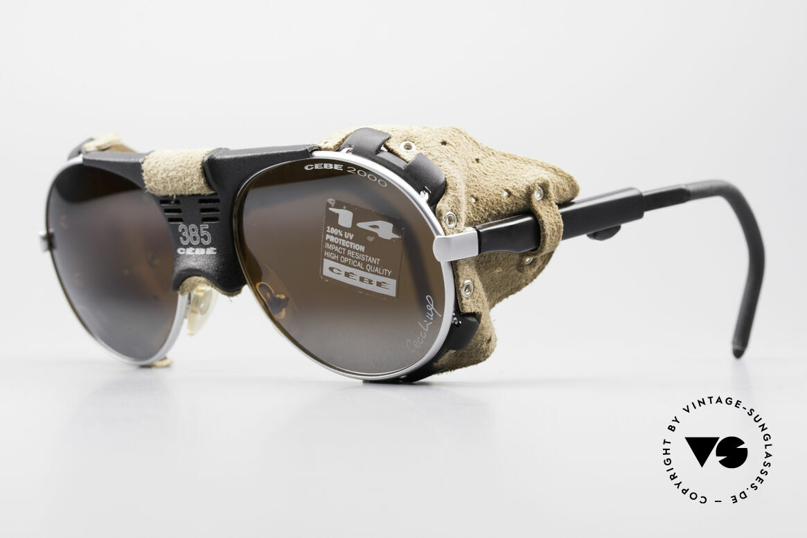 Cebe 385 Walter Cecchinel Ski Shades, impact resistant lenses for extreme sun intensity; 100%, Made for Men and Women