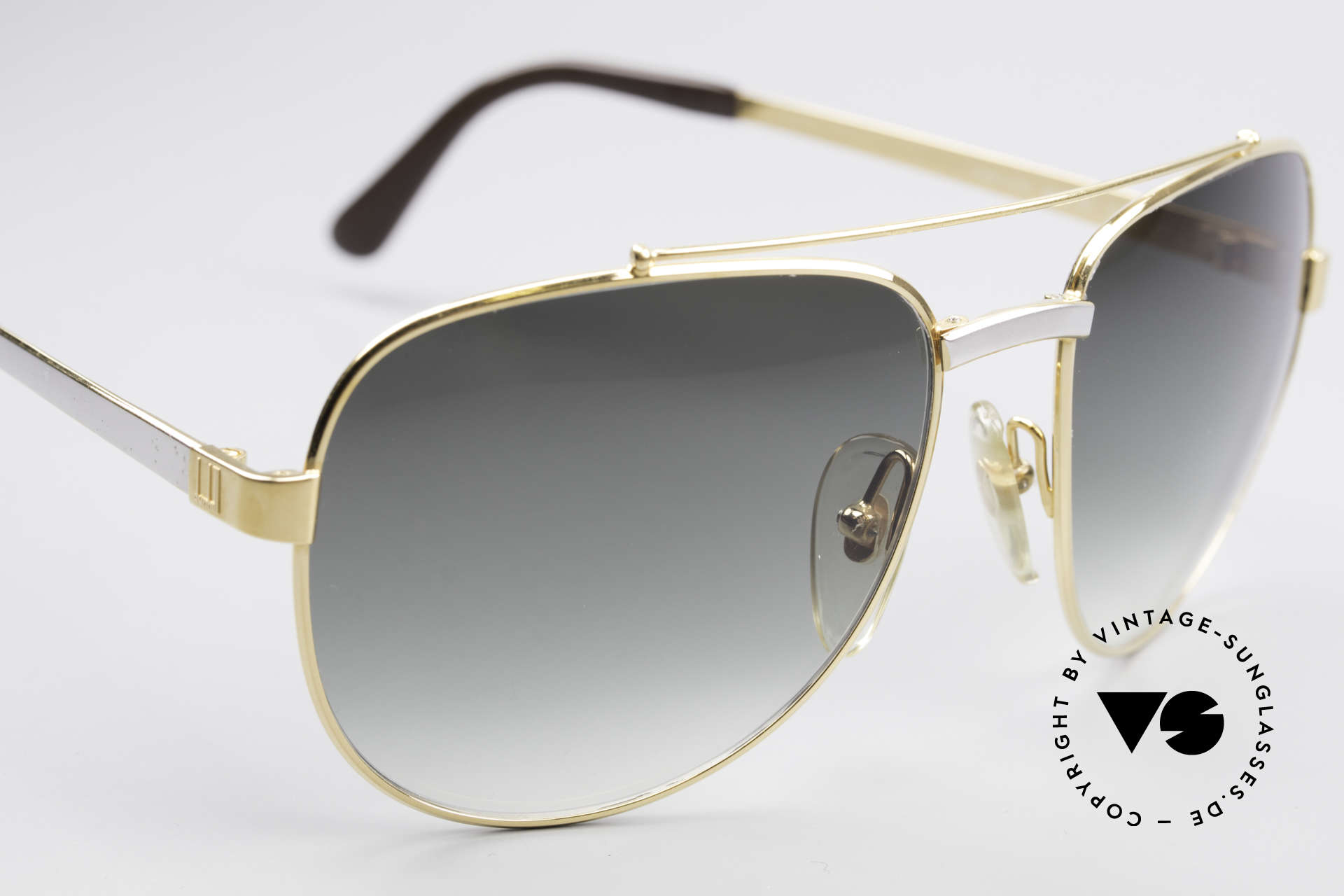 Dunhill 6029 Gold Plated Luxury Sunglasses, unworn (like all our VINTAGE luxury sunglasses), Made for Men