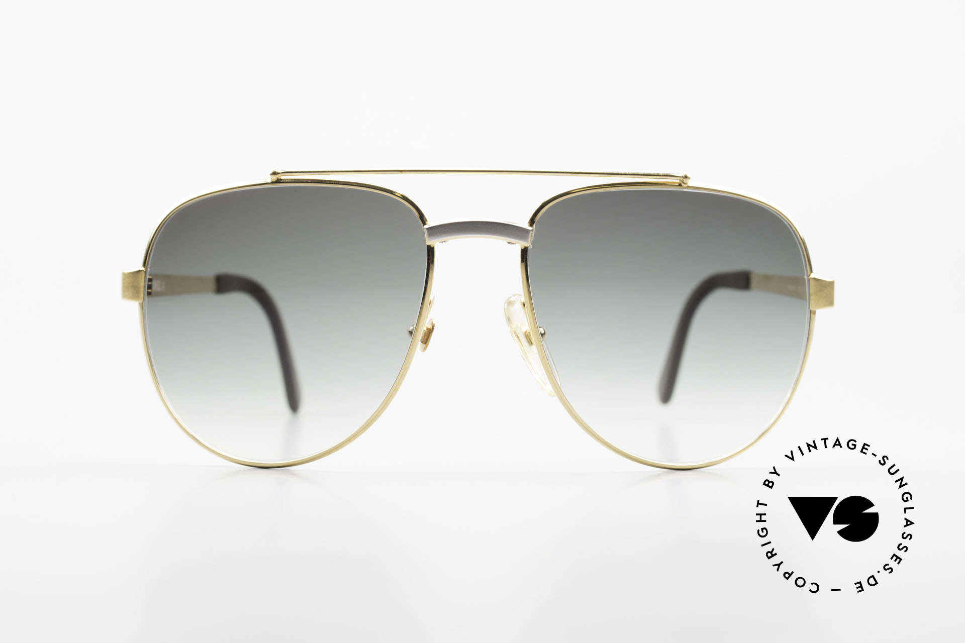 Dunhill 6029 Gold Plated Luxury Sunglasses, stylish A. Dunhill vintage sunglasses from 1985, Made for Men