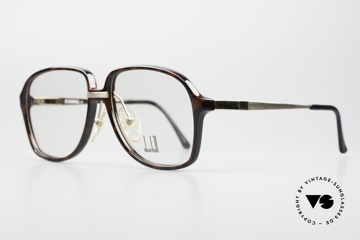 Dunhill 6053 80's Vintage Eyeglasses Men, tortoise-bordeaux Optyl front & flexible spring joints, Made for Men