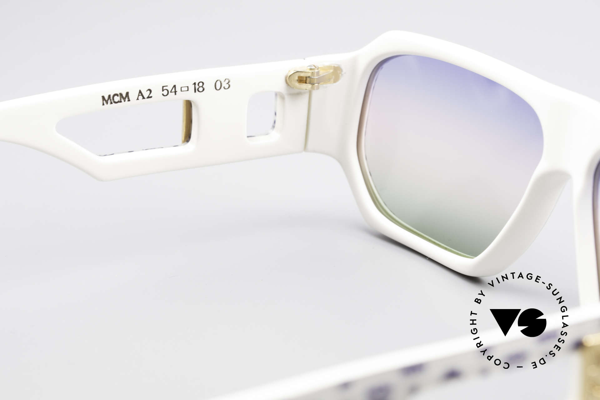 MCM München A2 Rare 80's Designer Sunglasses, new old stock; like all our vintage MCM sunglasses, Made for Men and Women
