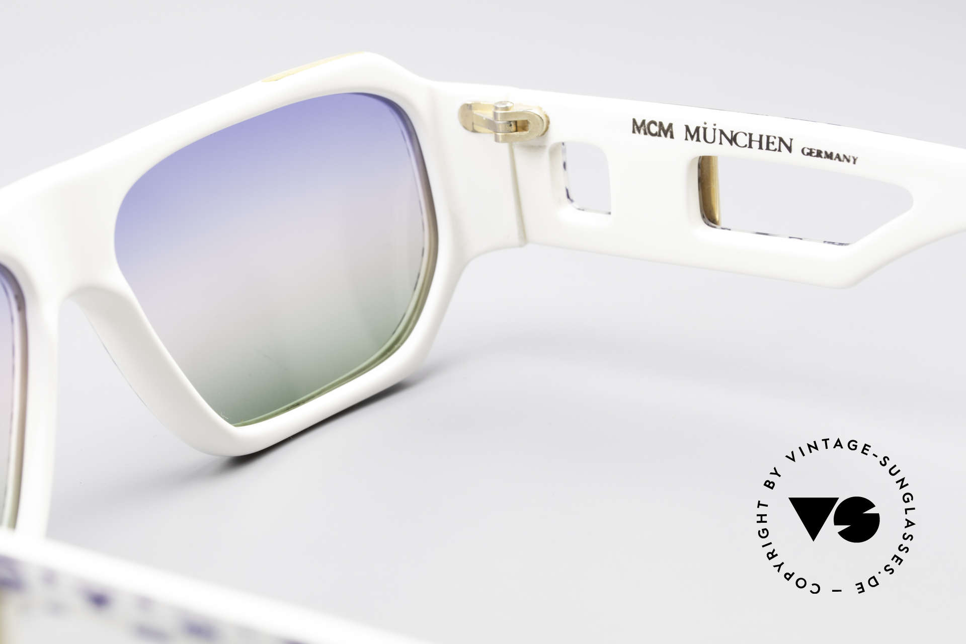 MCM München A2 Rare 80's Designer Sunglasses, NO RETRO, but a rare 80's original + Lacoste case, Made for Men and Women