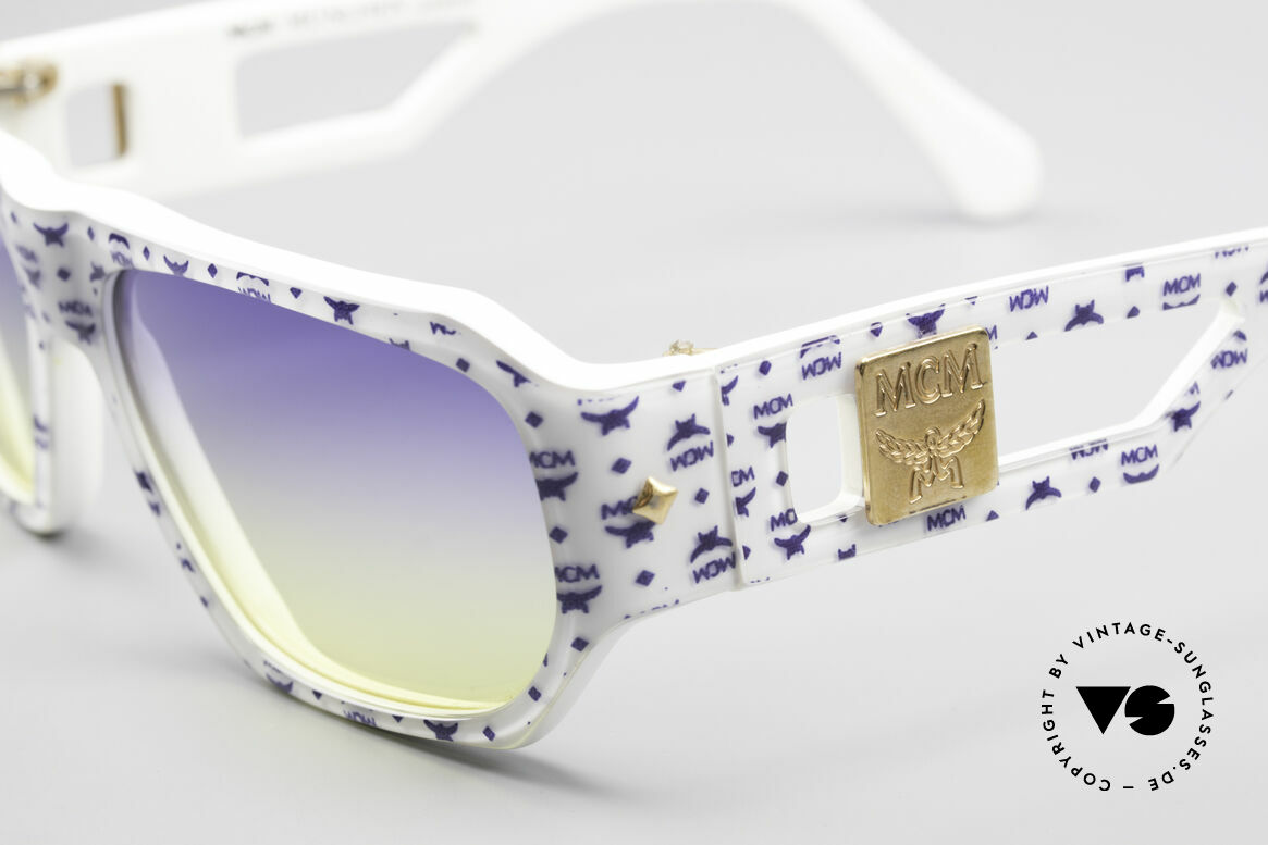 MCM München A2 Rare Designer Sunglasses 80s, pompous, striking & extravagant = typically MCM, Made for Men and Women
