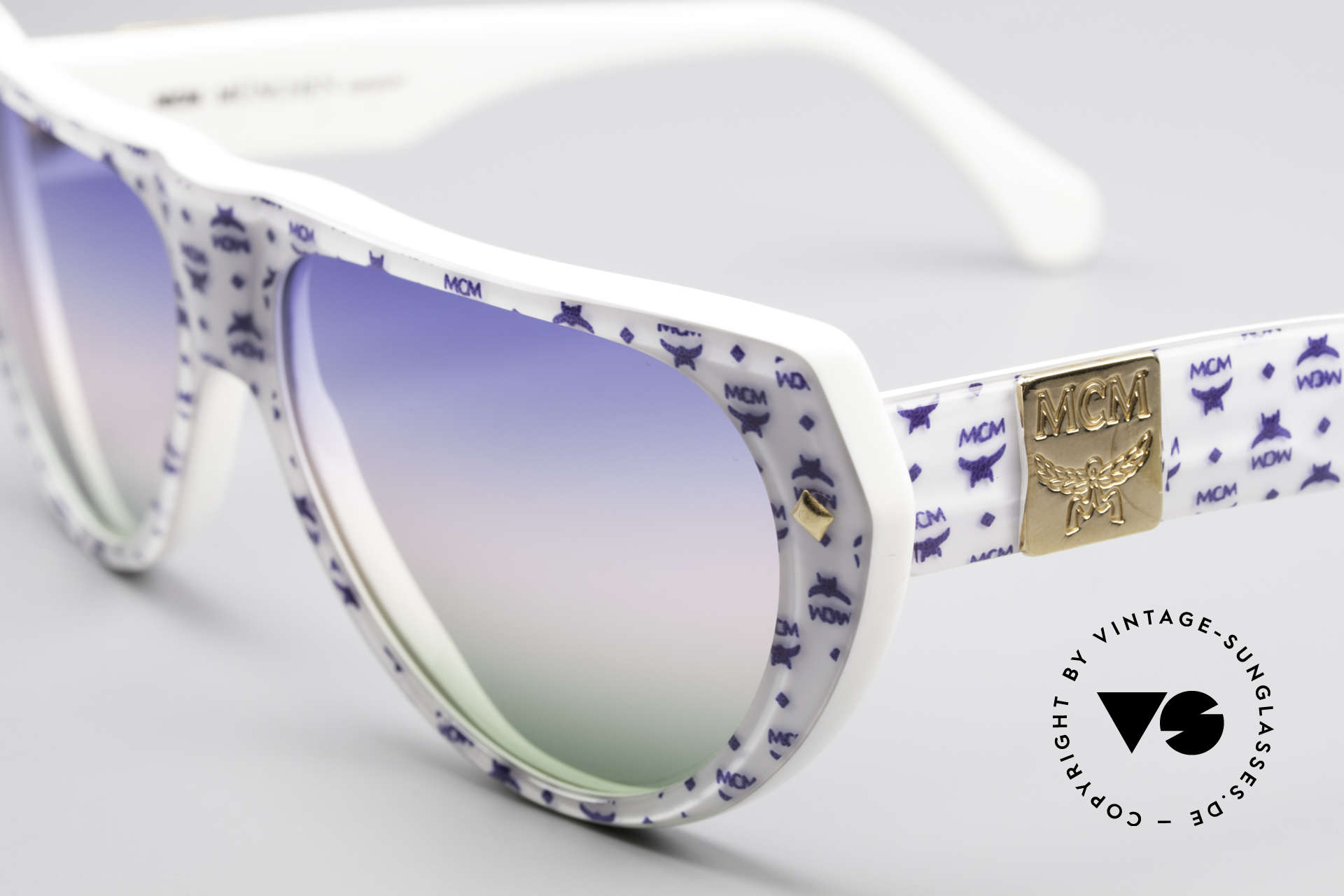 MCM München A1 Hip Hop Designer Sunglasses, pompous, striking & extravagant = typically MCM, Made for Men and Women