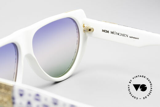 MCM München A1 Hip Hop Designer Sunglasses, NO RETRO, but a rare 80's original + Lacoste case, Made for Men and Women