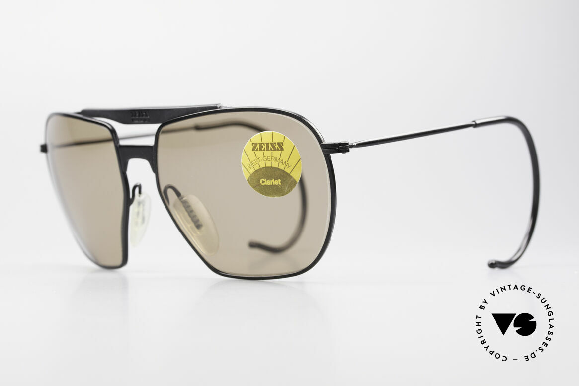 Zeiss 9911 Sport Vintage Sunglasses 80's, brown CR39 lenses (for 100% UV) and sports temples, Made for Men