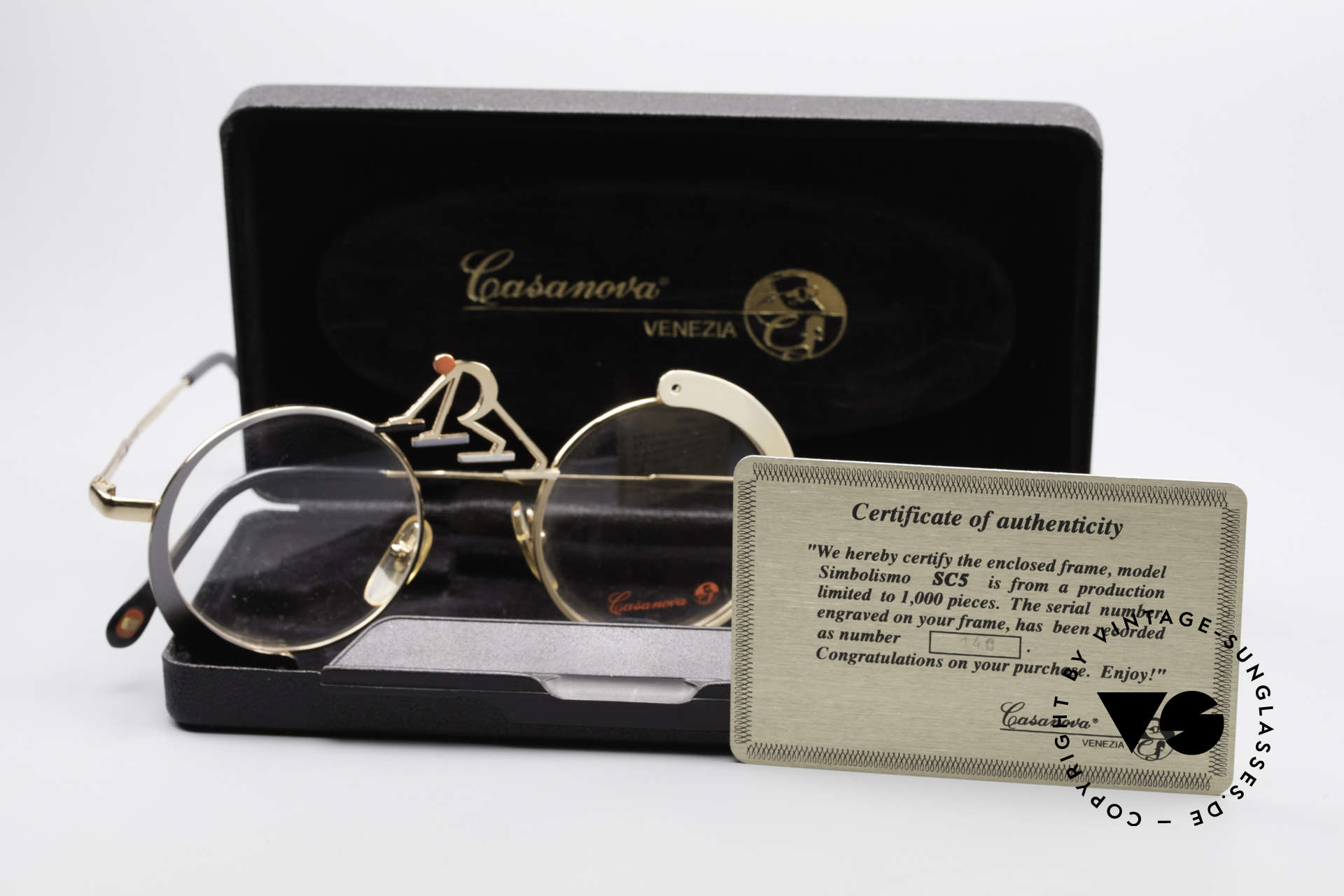 "Casanova SC5 Simbolismo Evolution Glasses, this Casanova vintage model is called SC5 ""EVOLUTION"", Made for Men and Women"