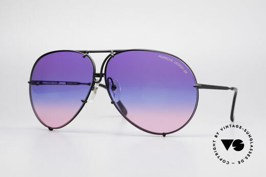 Porsche 5621 Tricolored 80's Aviator Shades Details