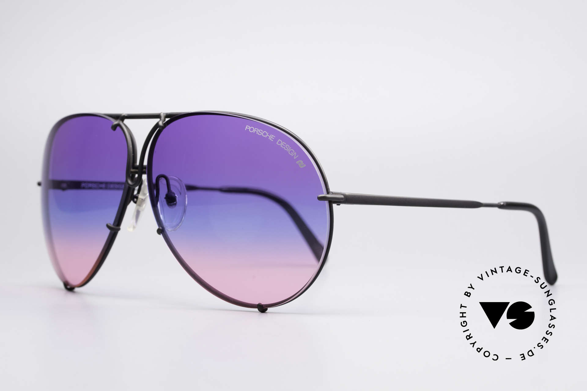 Porsche 5621 Tricolored 80's Aviator Shades, the legend with interchangeable lenses; true vintage, Made for Men
