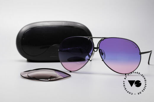 Porsche 5621 Tricolored 80's Aviator Shades