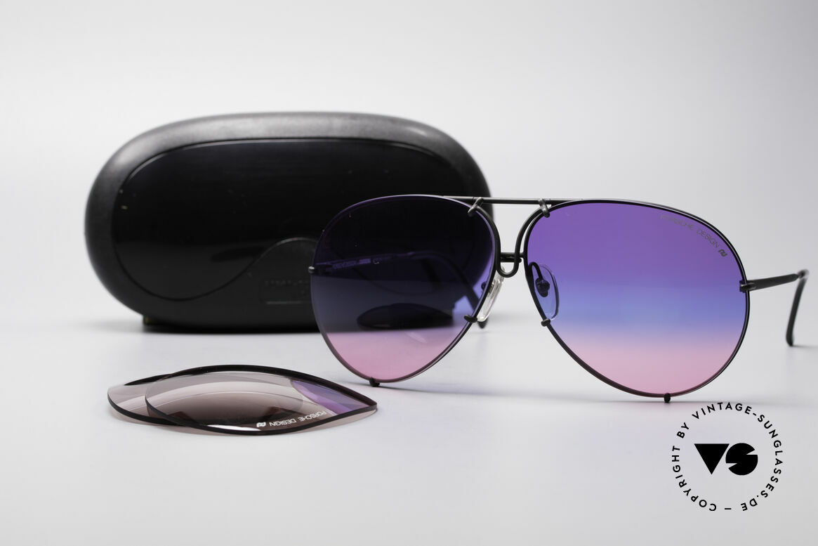 Porsche 5621 Tricolored 80's Aviator Shades, LIMITED EDITION with tricolored gradient sun lenses, Made for Men