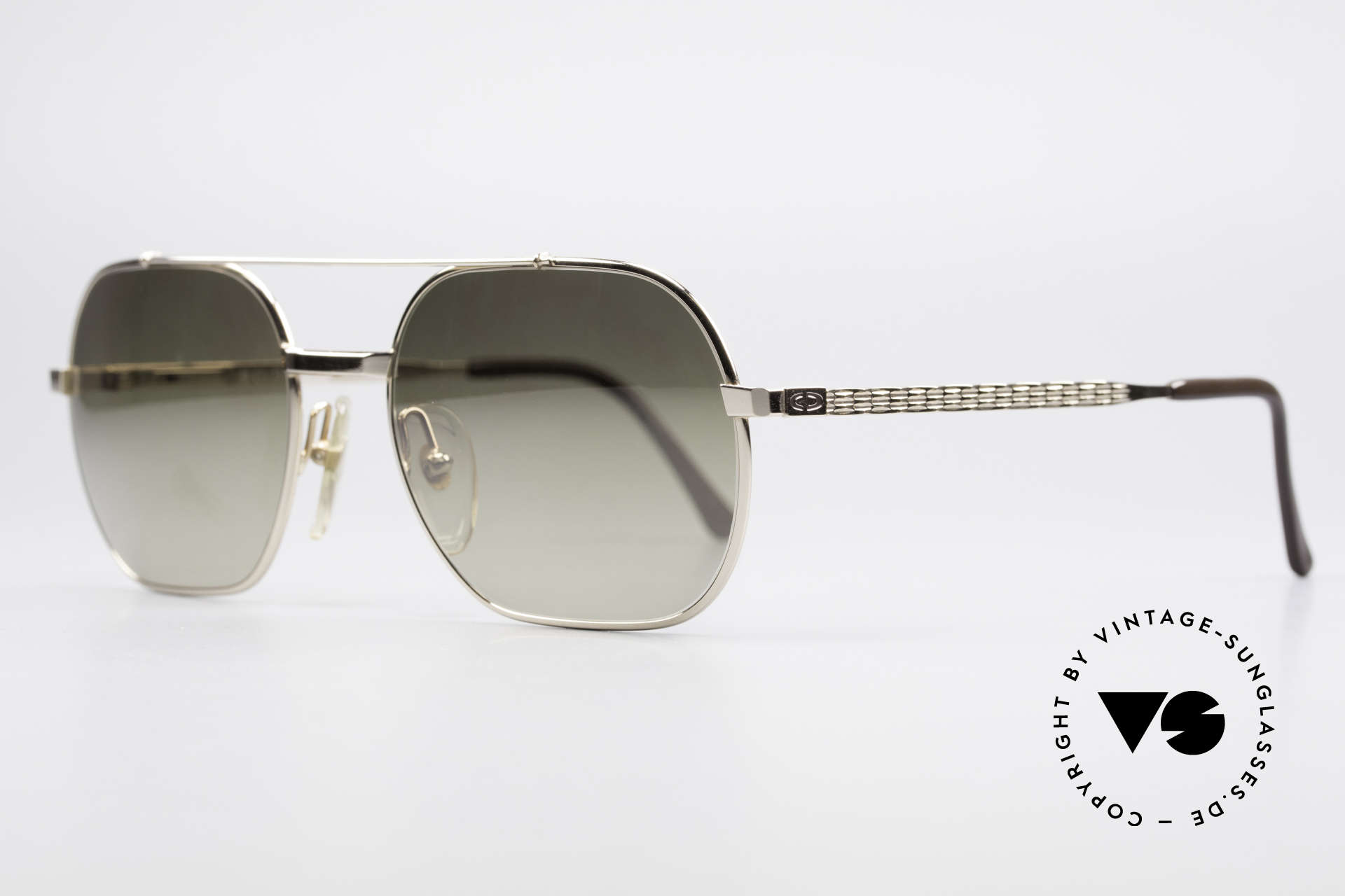 Christian Dior 2357 Legendary Monsieur Series, noble, half-mirrored gold lenses (100% UV protection), Made for Men