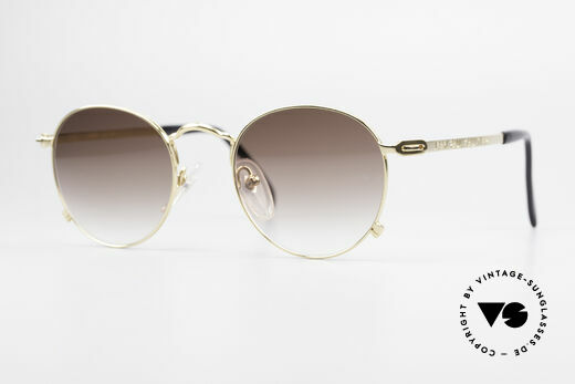 52490553175e8 Jean Paul Gaultier 55-1178 Gold Plated Panto Sunglasses Details
