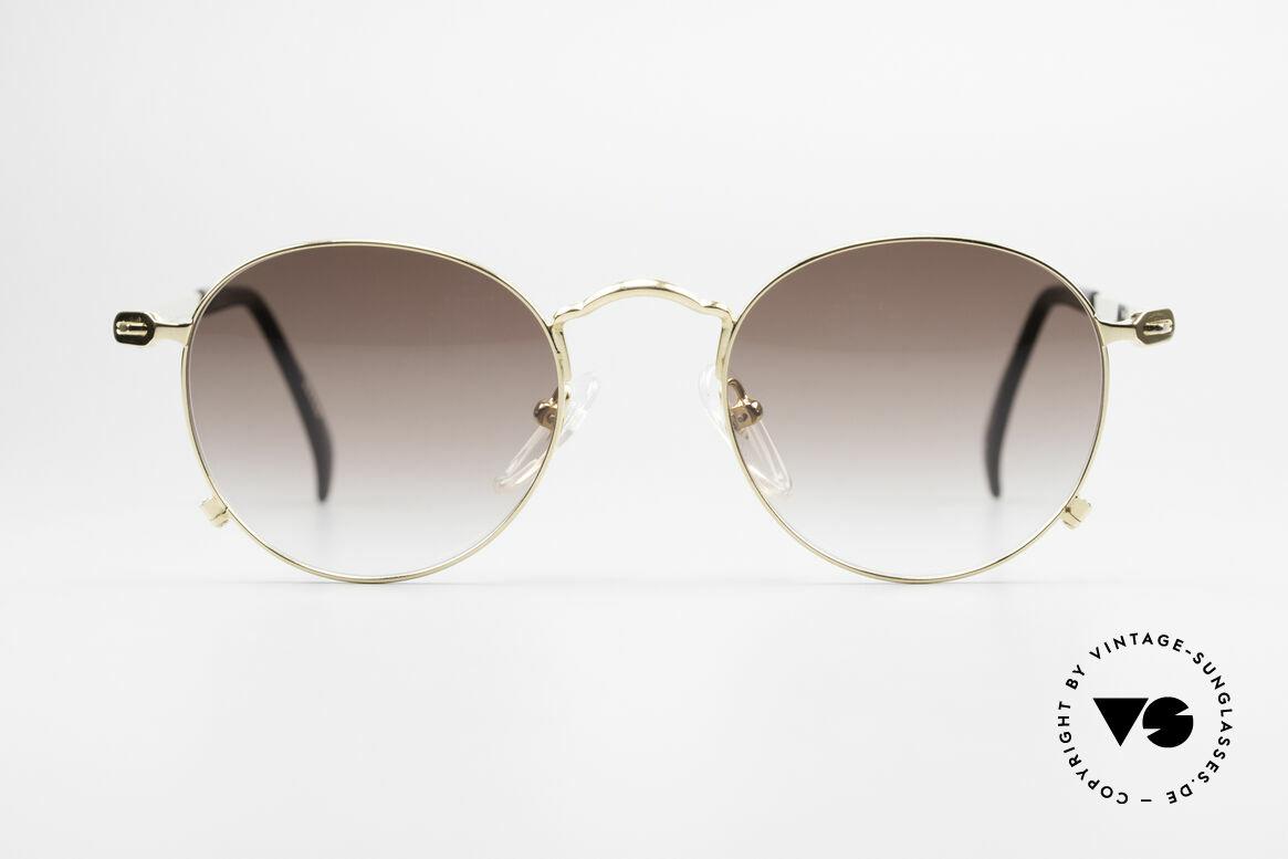 Jean Paul Gaultier 55-1178 Gold Plated Panto Sunglasses