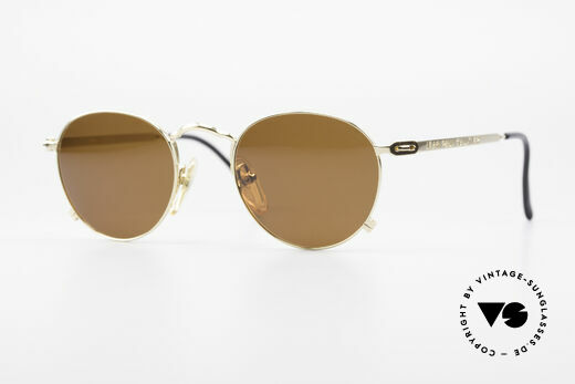 Jean Paul Gaultier 55-0176 Panto Sunglasses Gold Plated Details