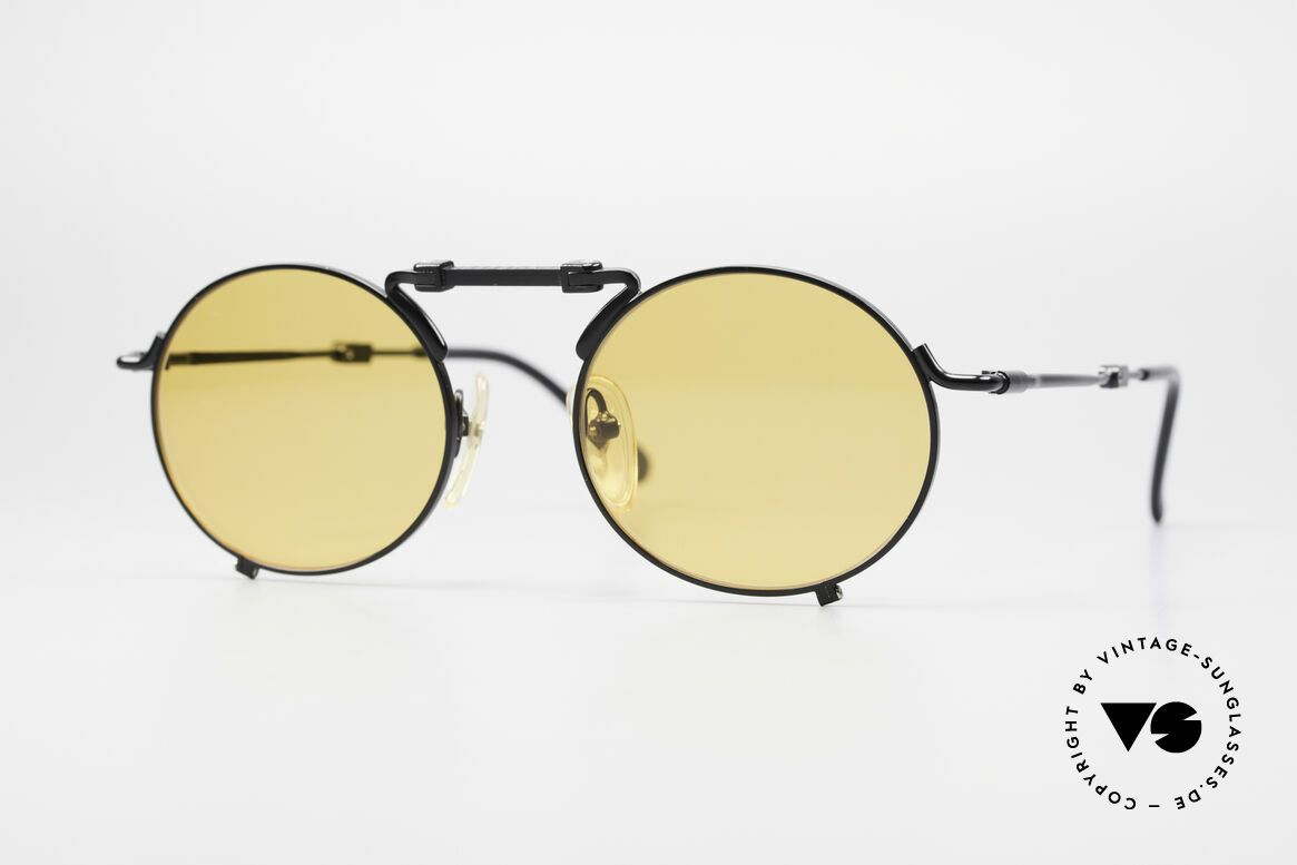 Jean Paul Gaultier 56-9171 90's Vintage Folding Sunglasses, unique designer shades by Jean Paul GAULTIER, Made for Men and Women