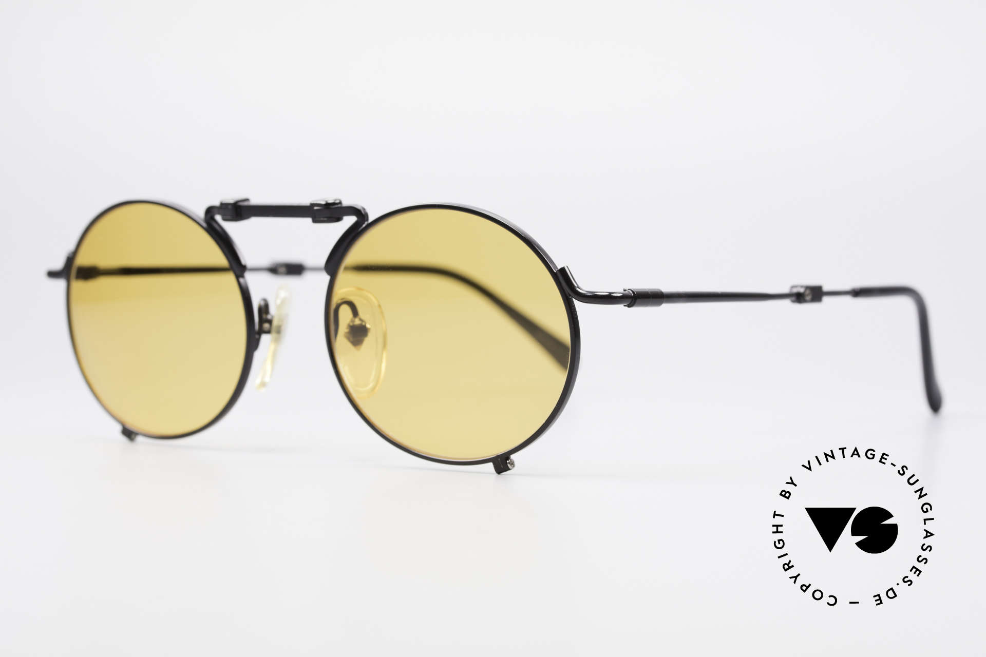 Jean Paul Gaultier 56-9171 90's Vintage Folding Sunglasses, high-end quality with many fancy design details, Made for Men and Women