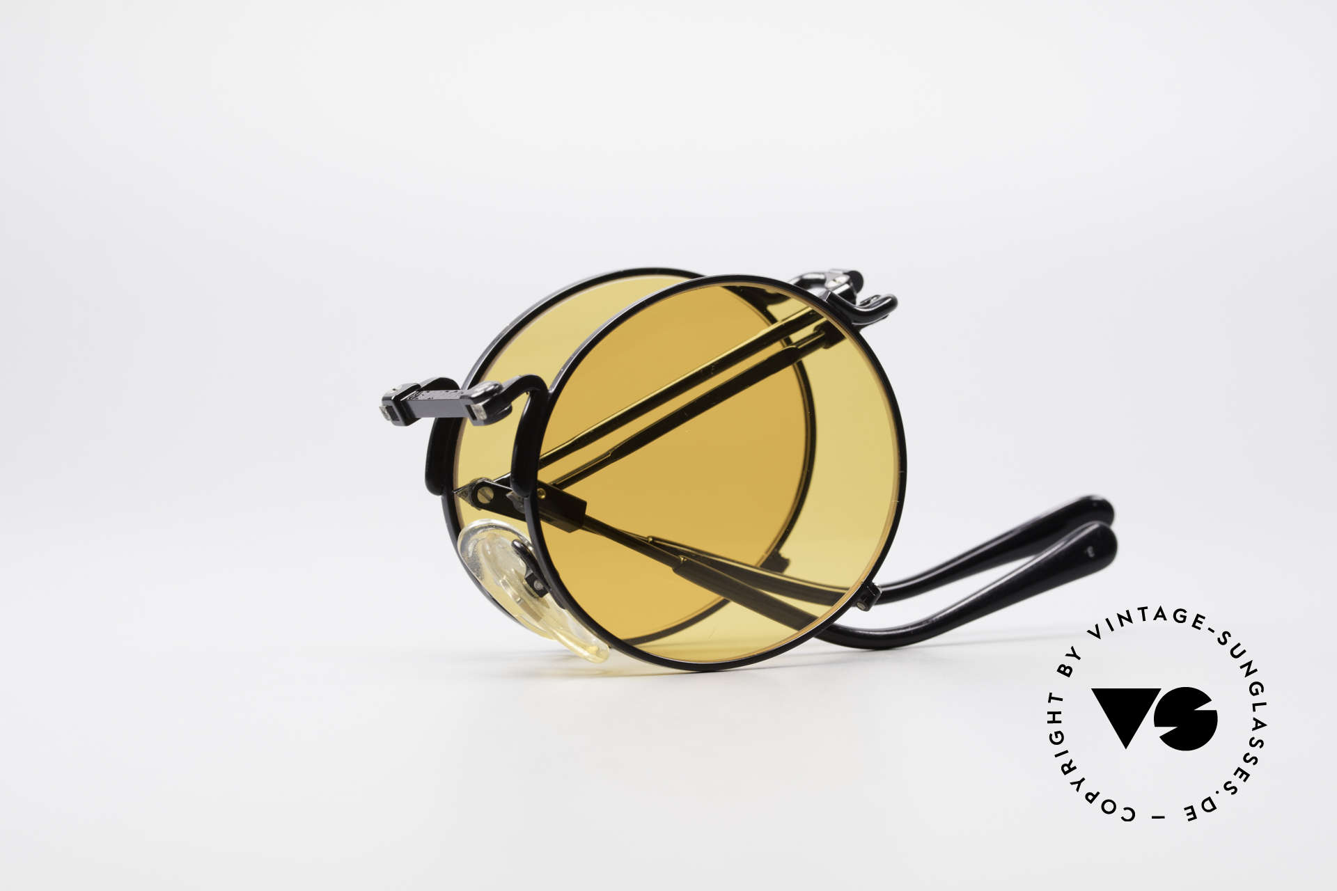 Jean Paul Gaultier 56-9171 90's Vintage Folding Sunglasses, NO RETRO fashion, but a 25 years old ORIGINAL, Made for Men and Women