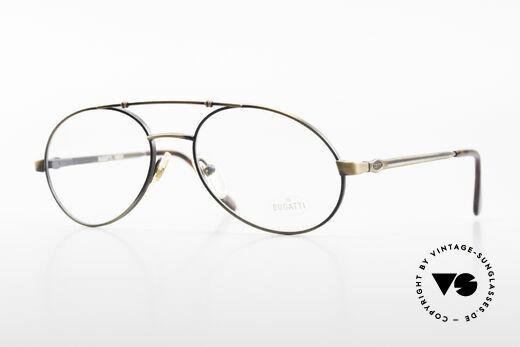 Bugatti 14823 Luxury 80's Eyeglass-Frame Details