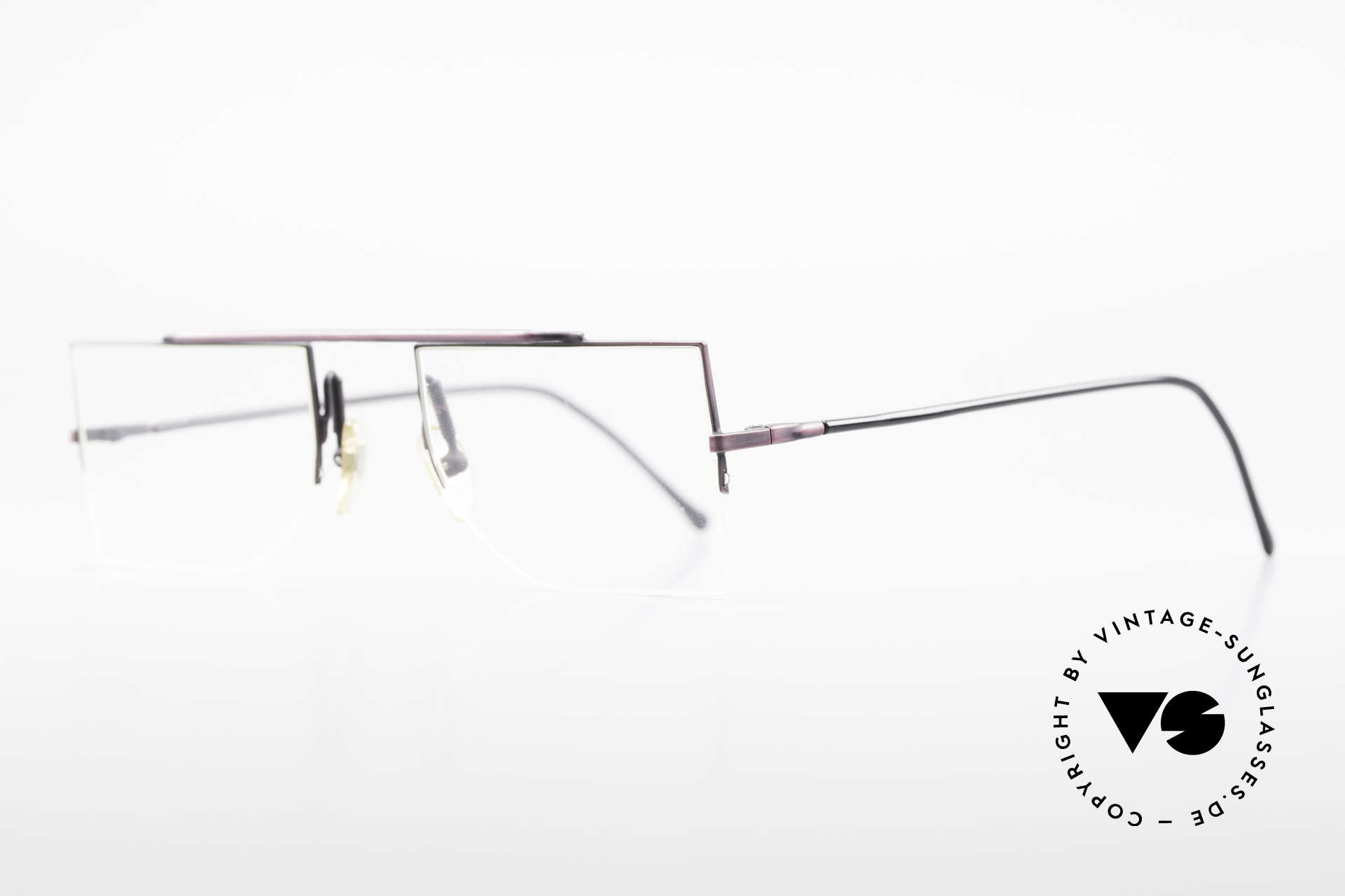 L.A. Eyeworks BURBANK 425 Square Vintage Eyeglasses, minimalist construction of simple geometric forms, Made for Men and Women