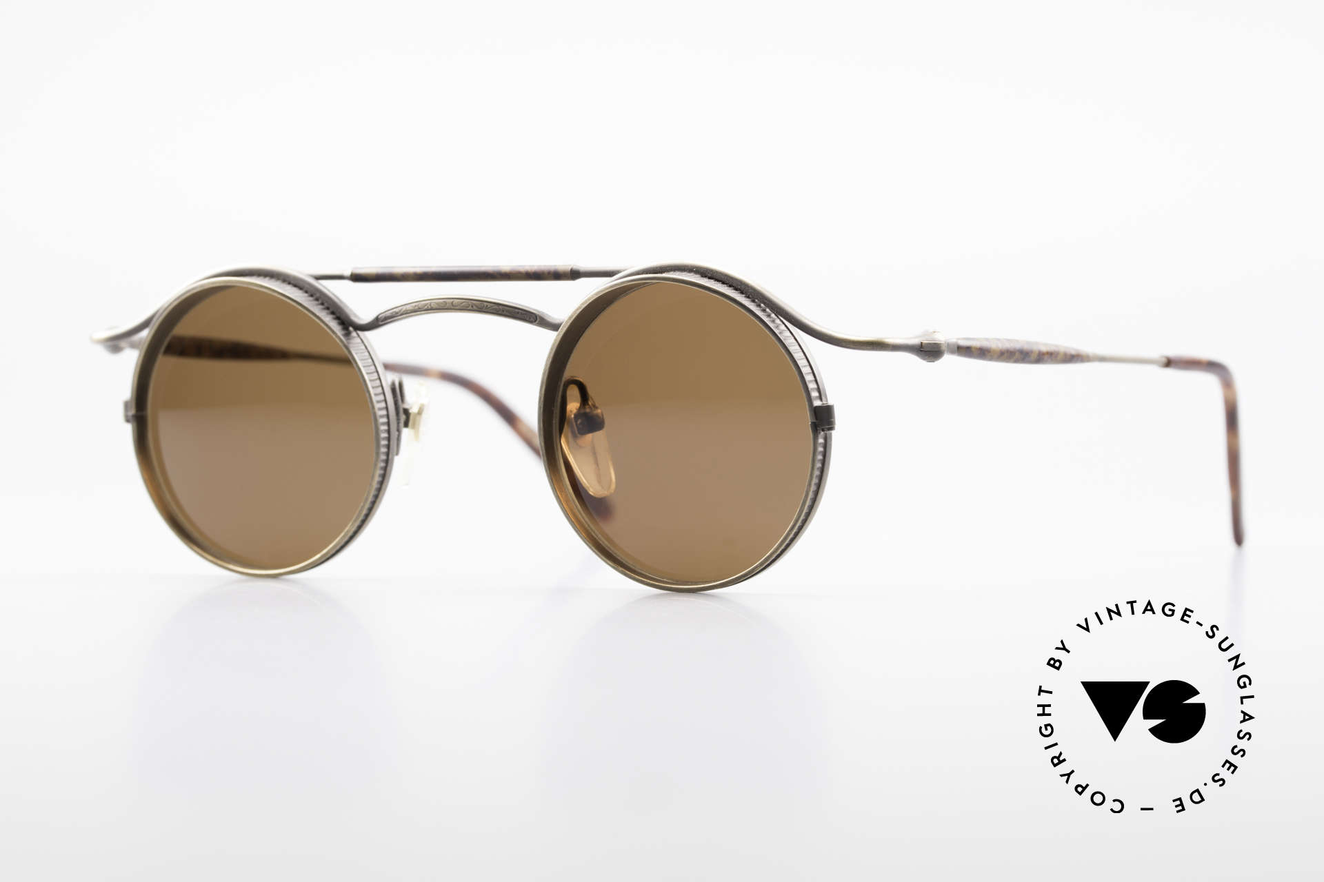 Matsuda 2903 Steampunk 90's Sunglasses, vintage Matsuda designer sunglasses from the mid 90's, Made for Men and Women