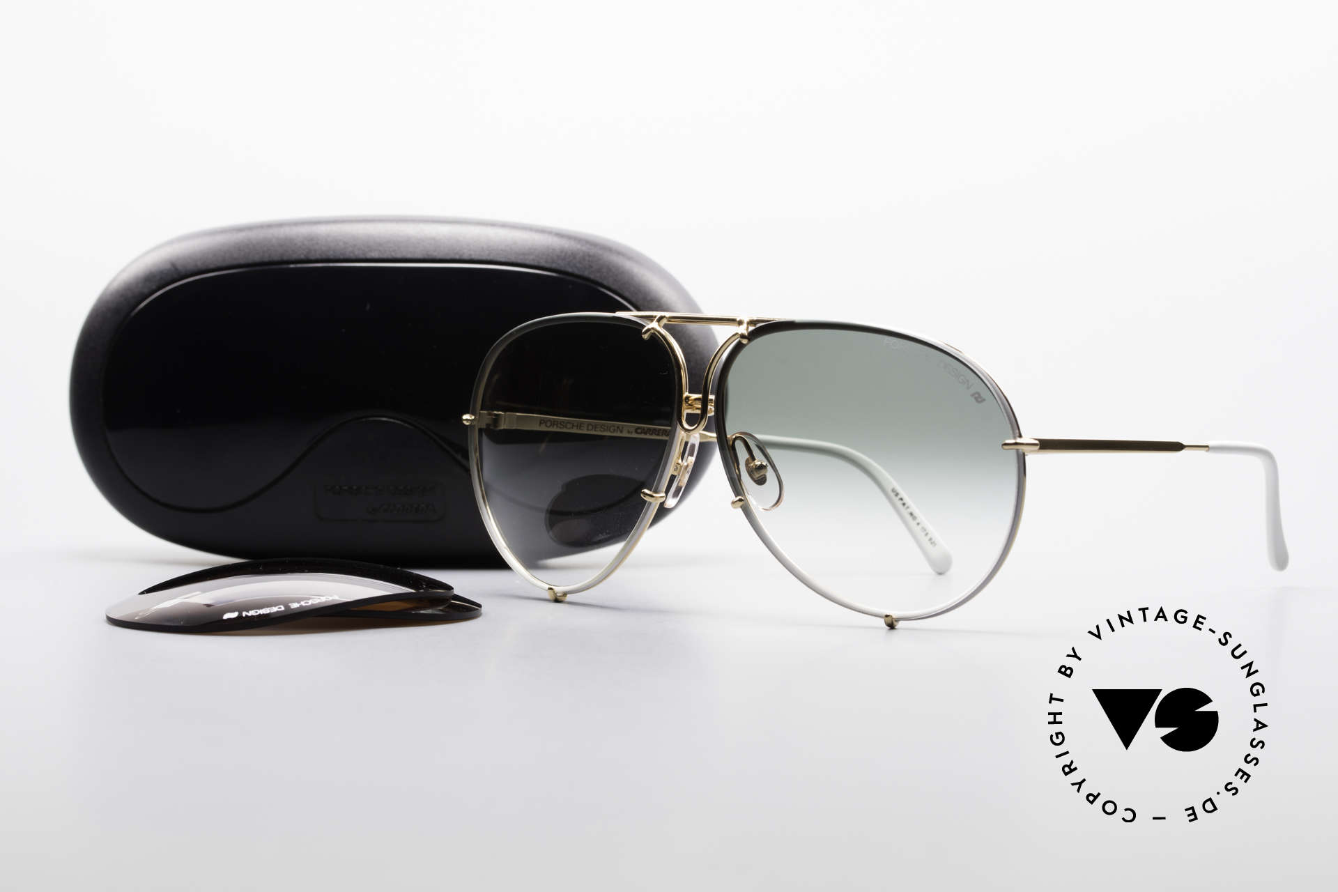 Porsche 5623 Special Edition Vintage Shades, LIMITED SPECIAL EDITION = gold-plated / white frame, Made for Men and Women