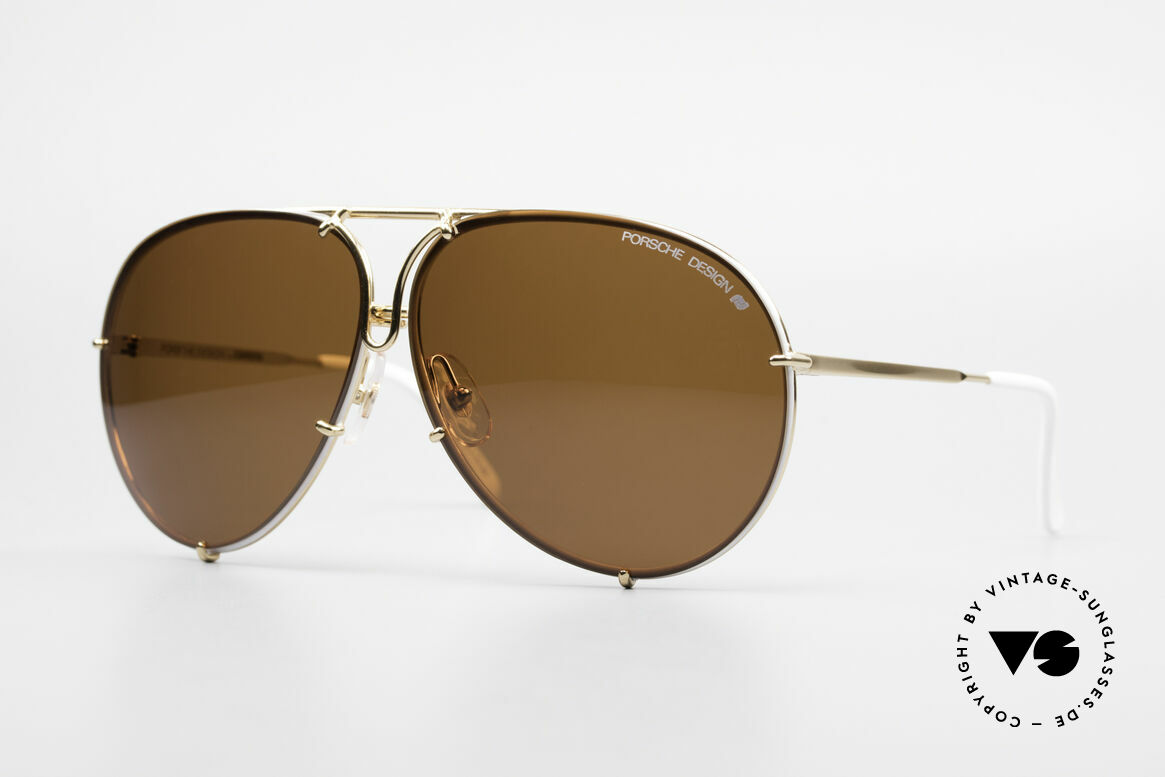 Porsche 5623 Special Edition Vintage Shades, rare interchangeable lenses in green-gradient & brown, Made for Men and Women