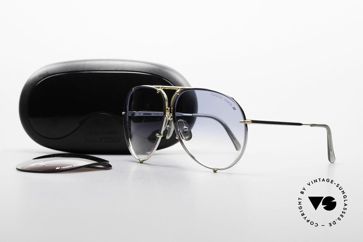 Porsche 5623 Johnny Depp Black Mass Shades, unworn rarity + orig. Porsche case (collector's item), Made for Men and Women