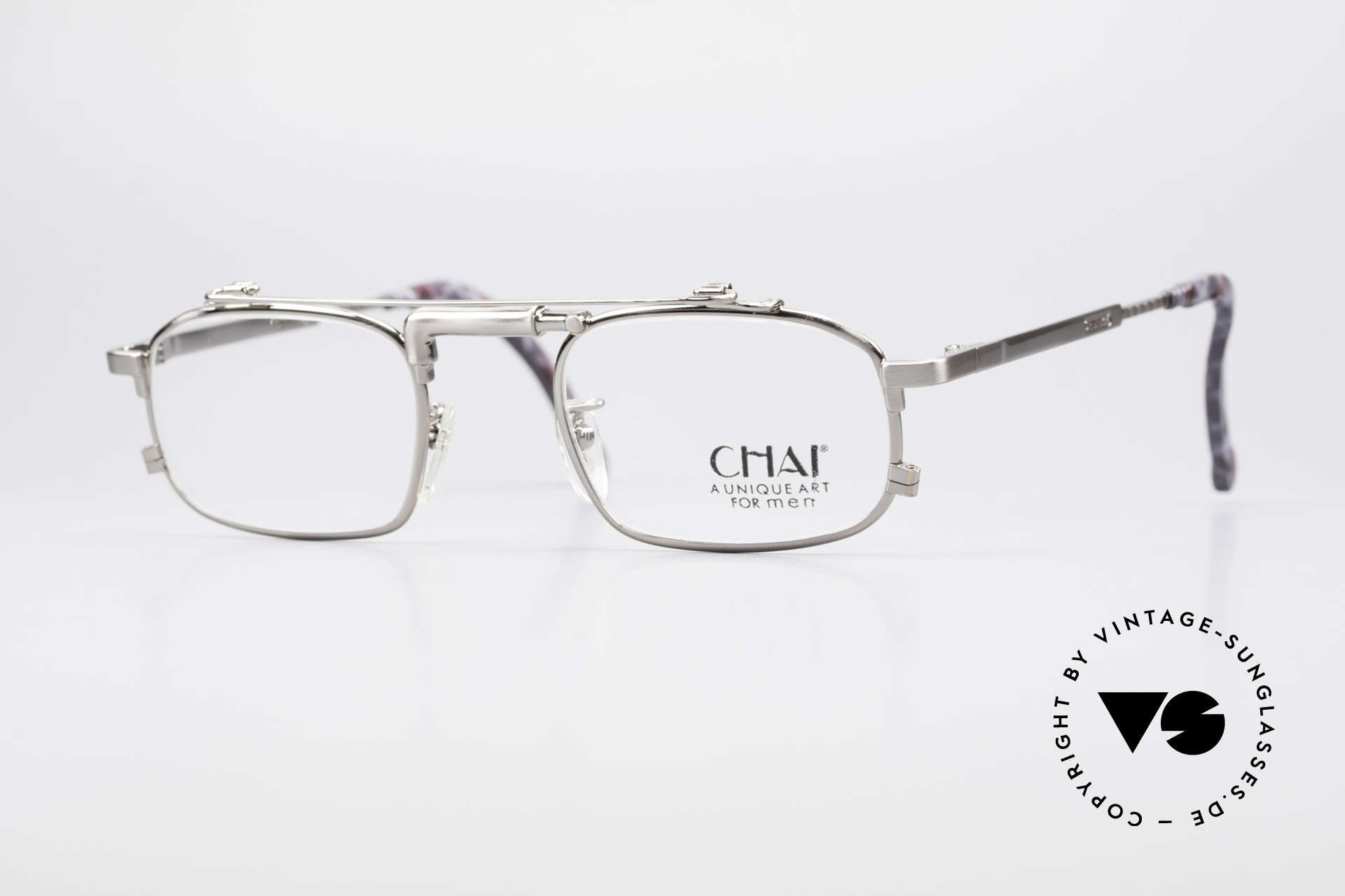 Chai No4 Square Industrial Vintage Eyeglasses, extraordinary VINTAGE eyeglasses-frame by CHAI, Made for Men and Women
