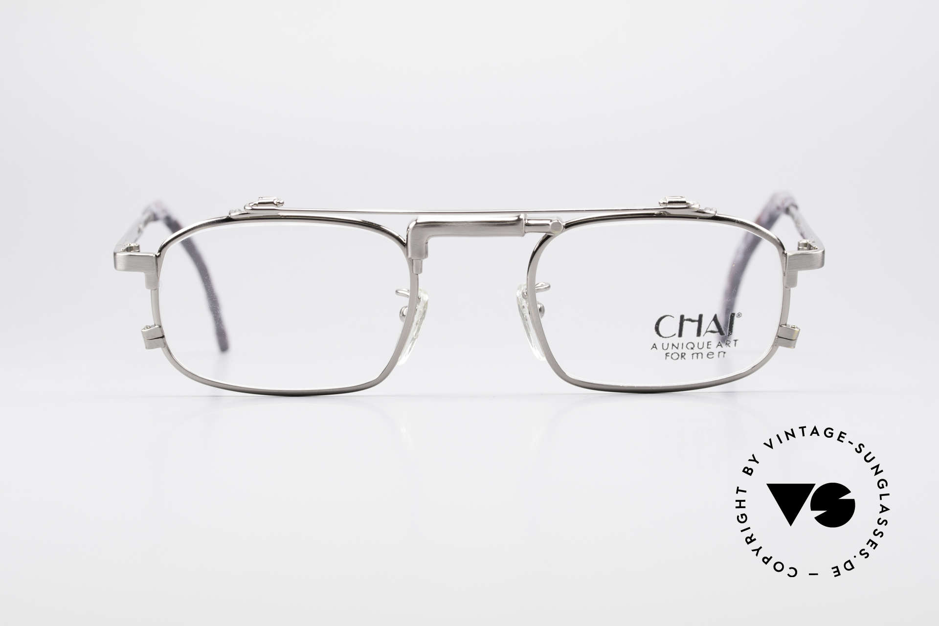 Chai No4 Square Industrial Vintage Eyeglasses, the inventive frame bridge looks like a 'water-tap', Made for Men and Women