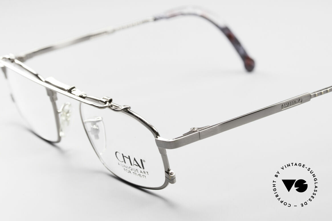 Chai No4 Square Industrial Vintage Eyeglasses, however, a great old designer piece from Germany, Made for Men and Women