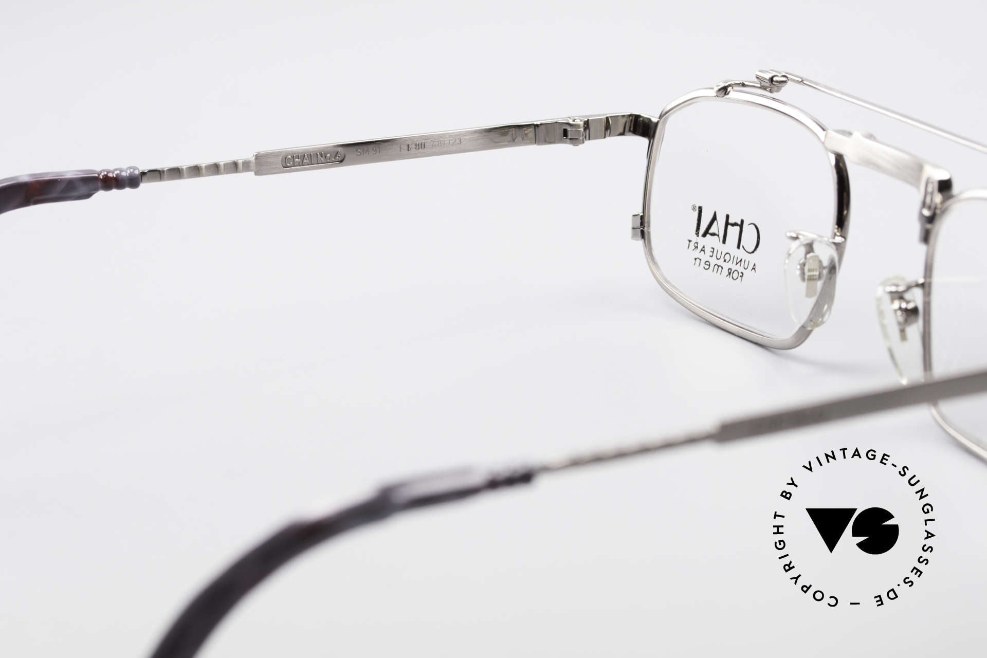 Chai No4 Square Industrial Vintage Eyeglasses, NO RETRO GLASSES, but a 30 years old ORIGINAL, Made for Men and Women