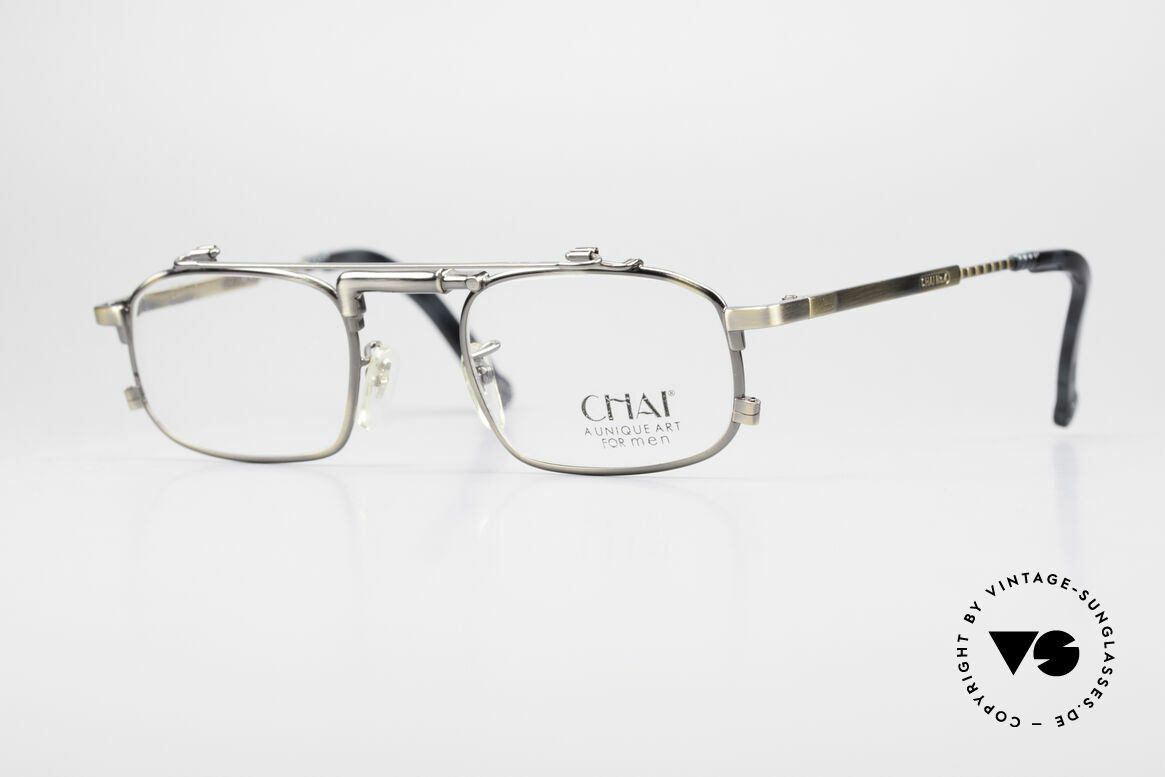 Chai No4 Square Unique Art For Men Glasses, extraordinary VINTAGE eyeglasses-frame by CHAI, Made for Men and Women