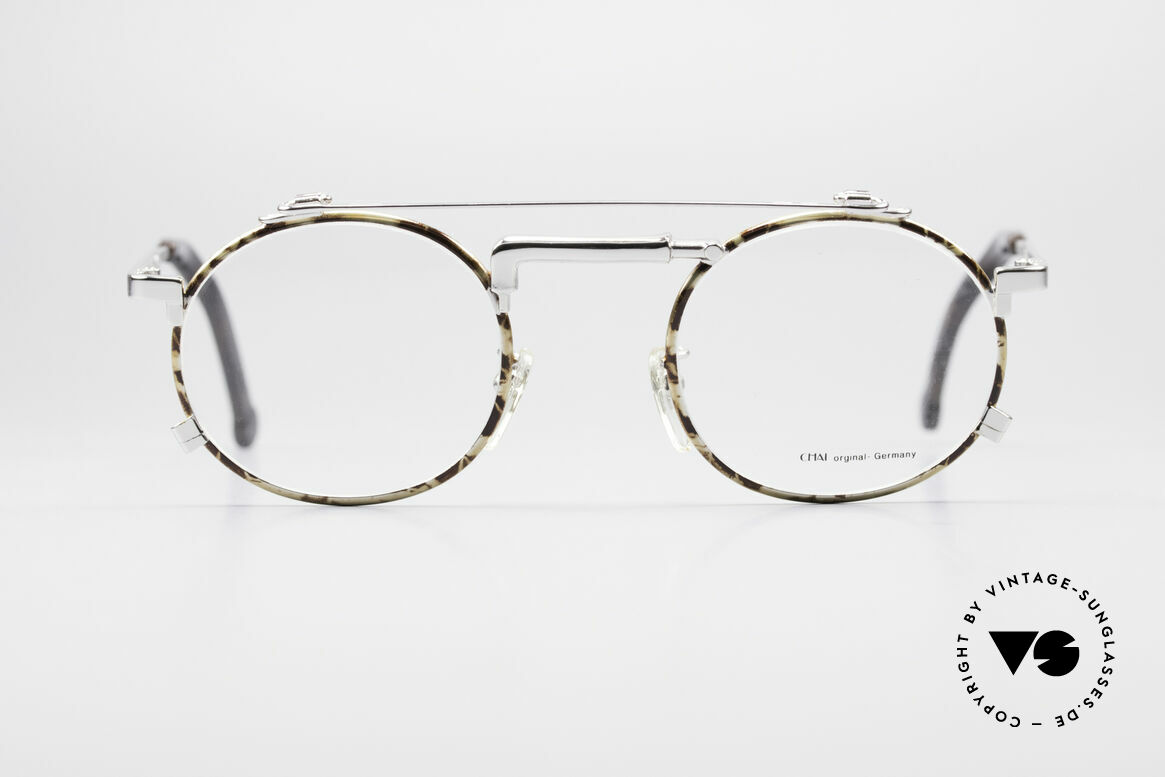 Chai No4 Round Industrial Vintage Eyeglasses, the inventive frame bridge looks like a 'water-tap', Made for Men and Women