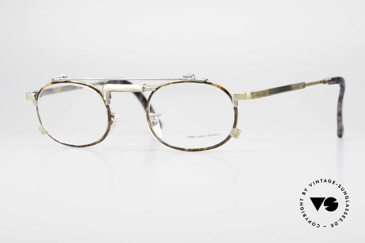Chai No4 Oval Industrial Vintage Eyeglasses, extraordinary VINTAGE eyeglasses-frame by CHAI, Made for Men and Women
