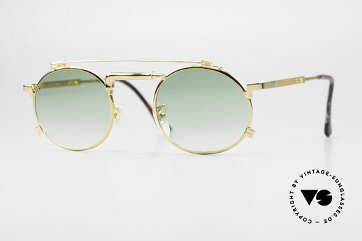 Chai No4 Round Gold Plated Tap Sunglasses Details