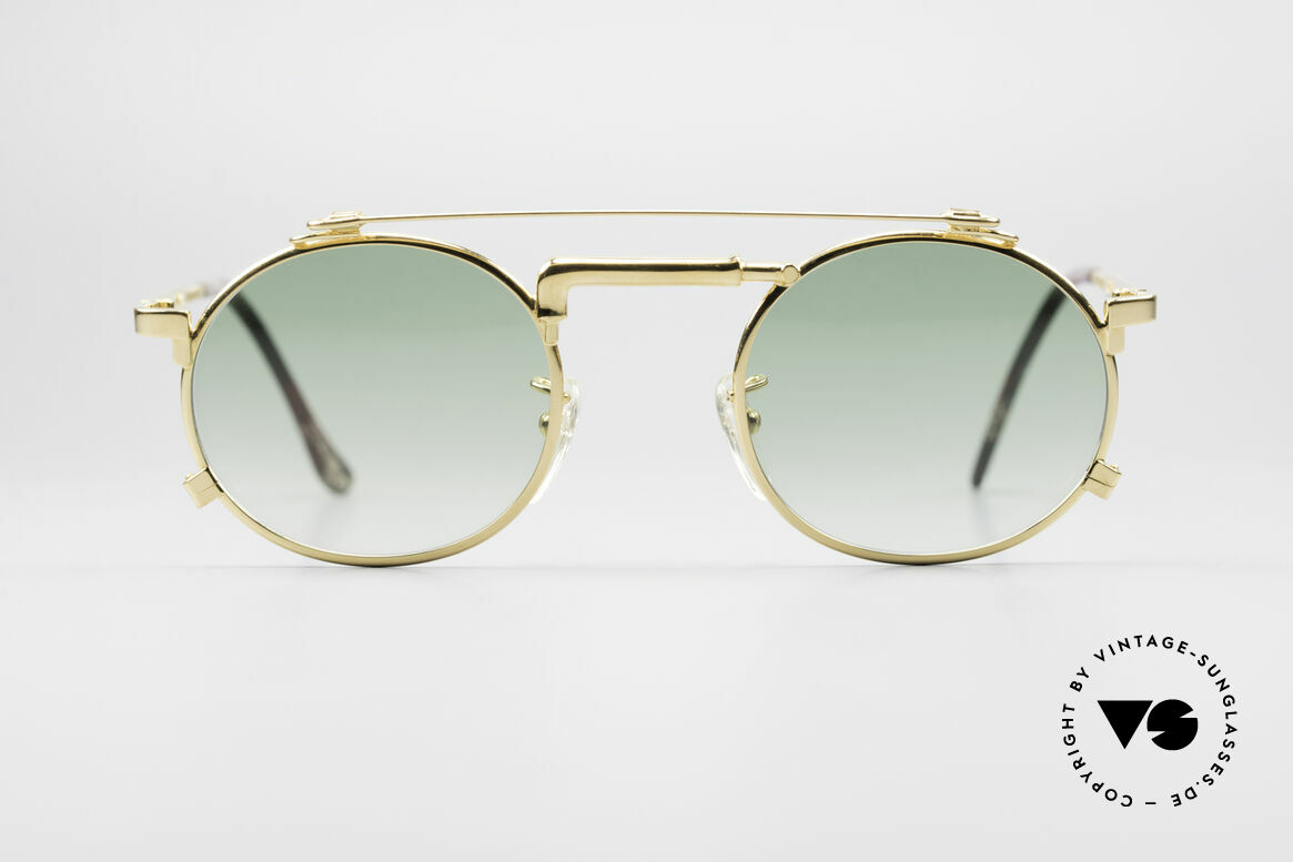Chai No4 Round Gold Plated Tap Sunglasses