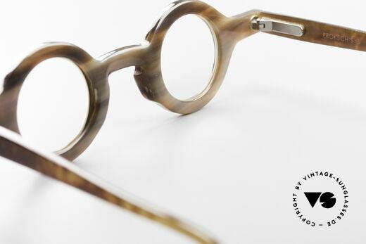Proksch's P218 Buffalo Horn Round Frame, Size: medium, Made for Men and Women