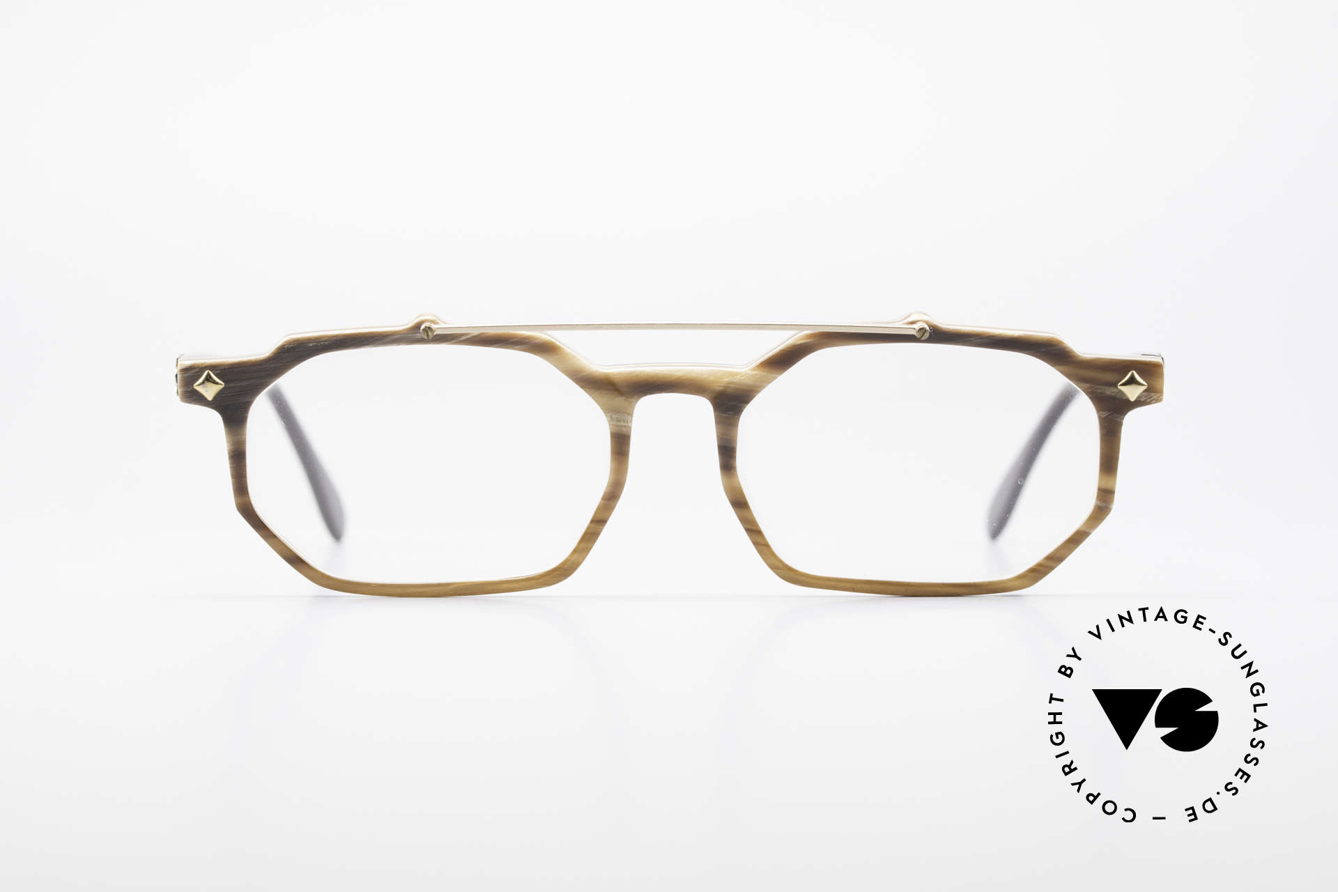 MCM München 301 Buffalo Horn Vintage Frame, real BUFFALO HORN frame with MCM appliqué, Made for Men and Women
