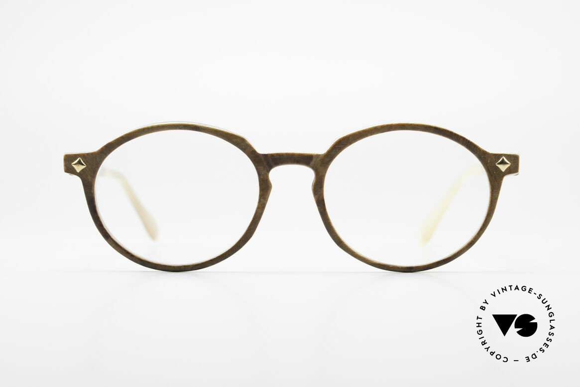 MCM München 300 Buffalo Horn Panto Frame, luxury horn eyeglasses by MCM from the 1980's, Made for Men and Women