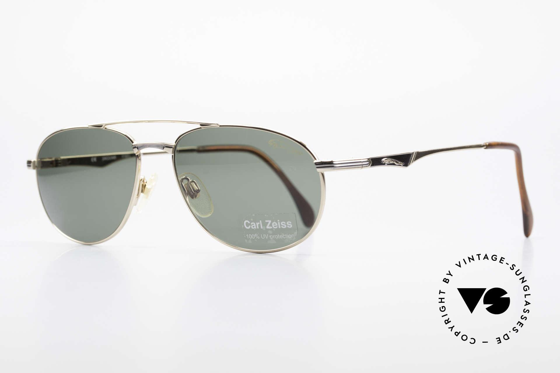 Jaguar 3709 Rare Vintage Sunglasses 90's, elegant frame design & timeless classic gold finish, Made for Men