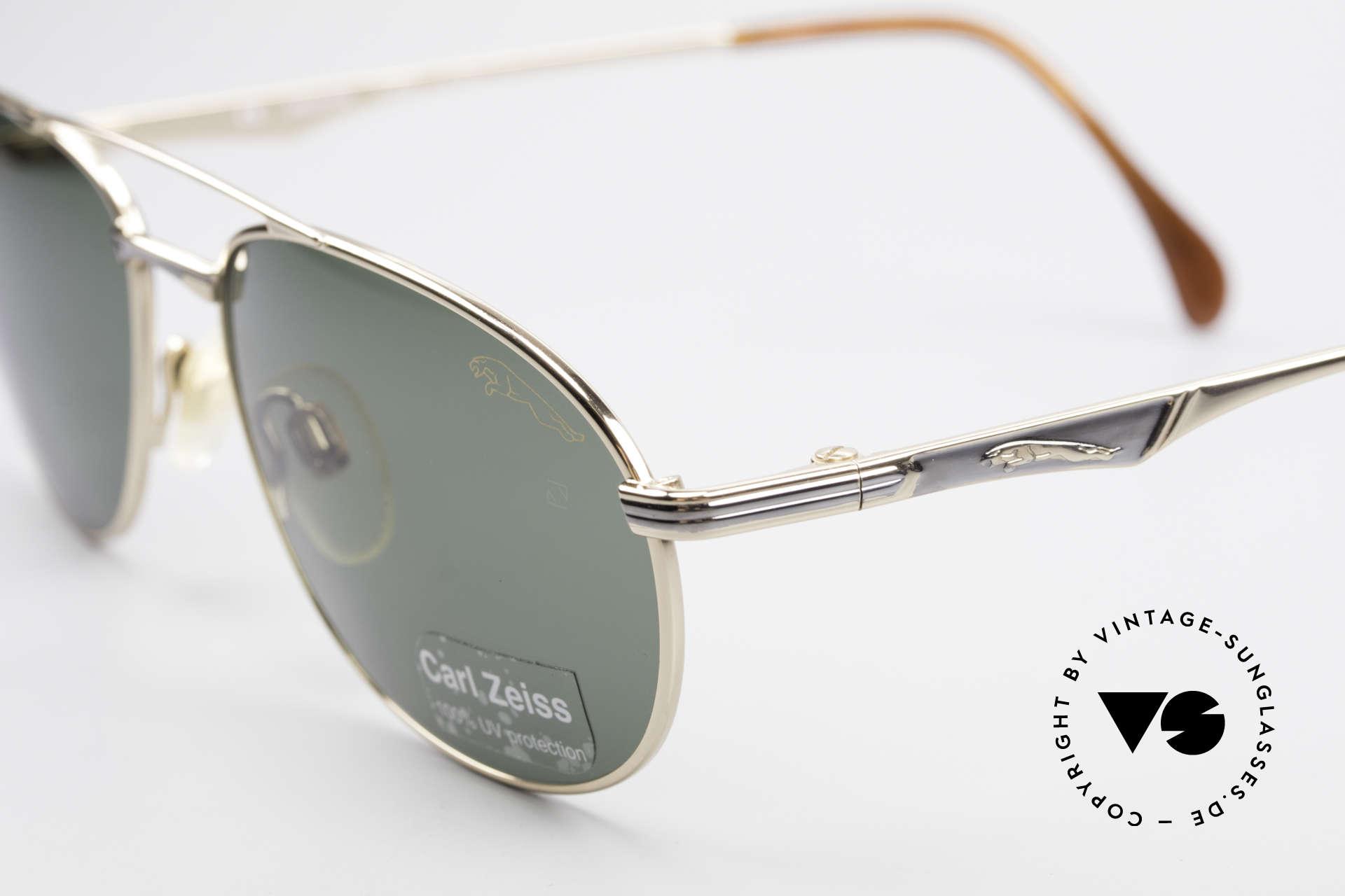 Jaguar 3709 Rare Vintage Sunglasses 90's, green Zeiss sun lenses (100% UV) with JAGUAR logo, Made for Men